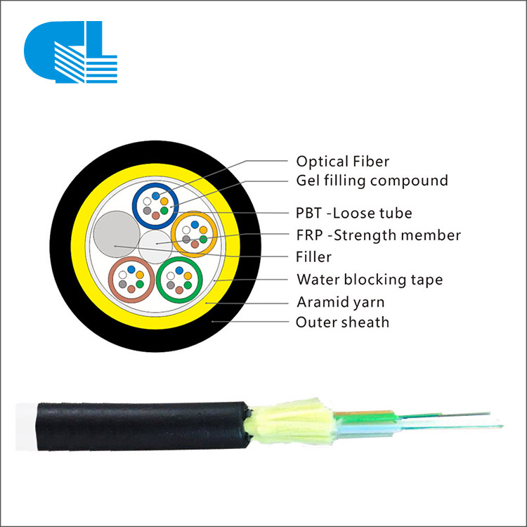 24 Core Aerial ADSS Cable Single Layer All-Dielectric Self-Supporting ADSS Optical Cable