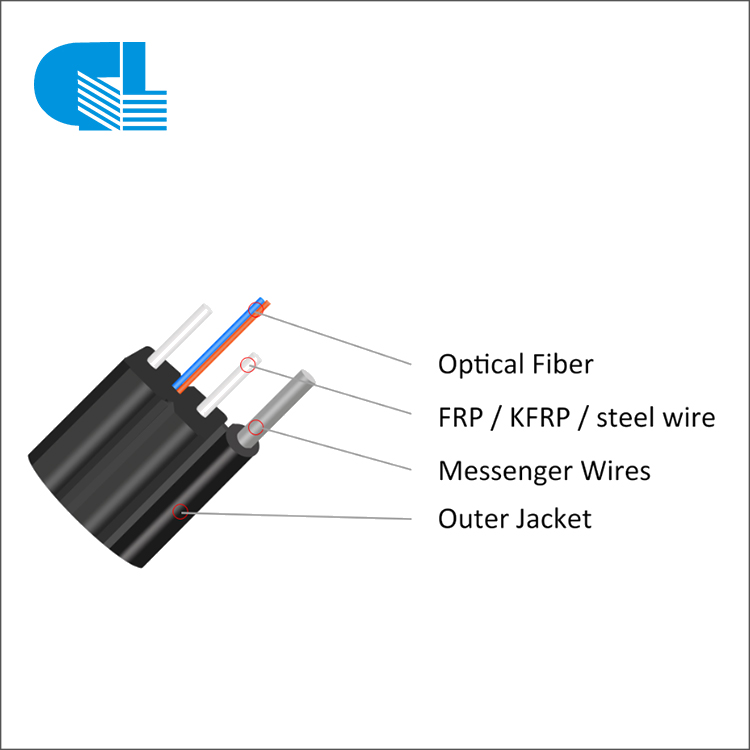Outdoor FTTH Self-supporting Bow-type Drop Cable With Steel Wire