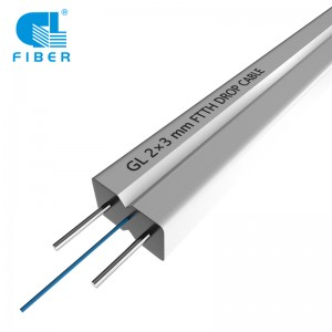 1-12 Core Indoor FTTH Drop Cable FRP KFRP Steel Wire