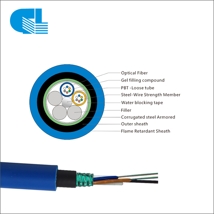 PriceList for Hybrid 12 Core Single Mode Fiber Optic Cable - MGTSV Mining Flame Retardant Custom Fiber Optic Cables – GL Technology