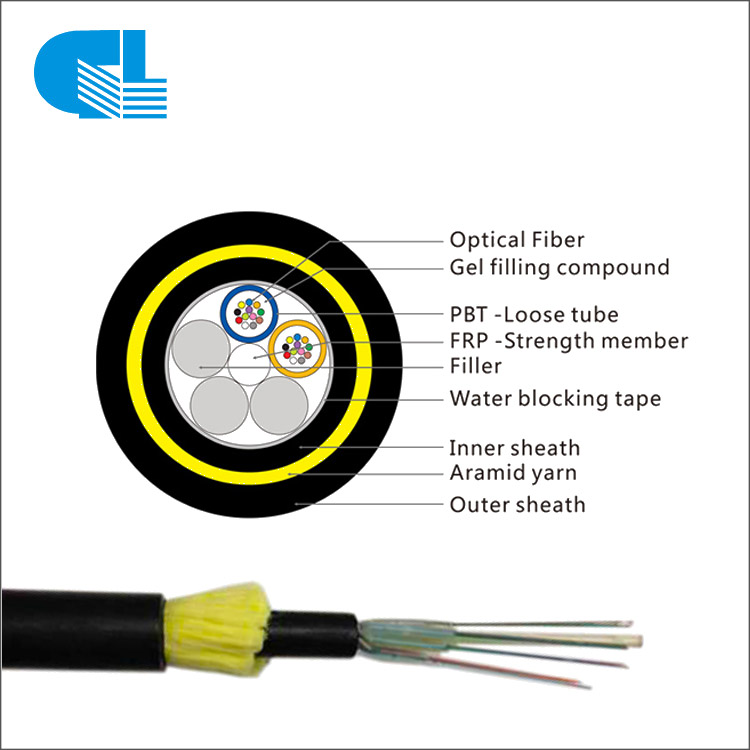 24 Core Aerial ADSS Cable Double Layer All-Dielectric Self-Supporting ADSS Optical Cable