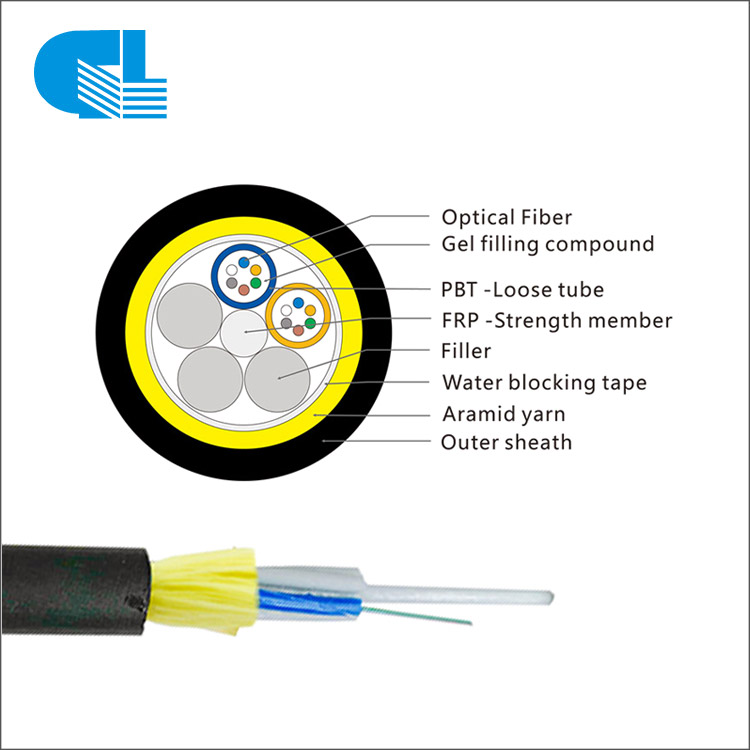 12 Core Aerial ADSS Cable All-Dielectric Self-Supporting  Single Layer Fibra Optica ADSS