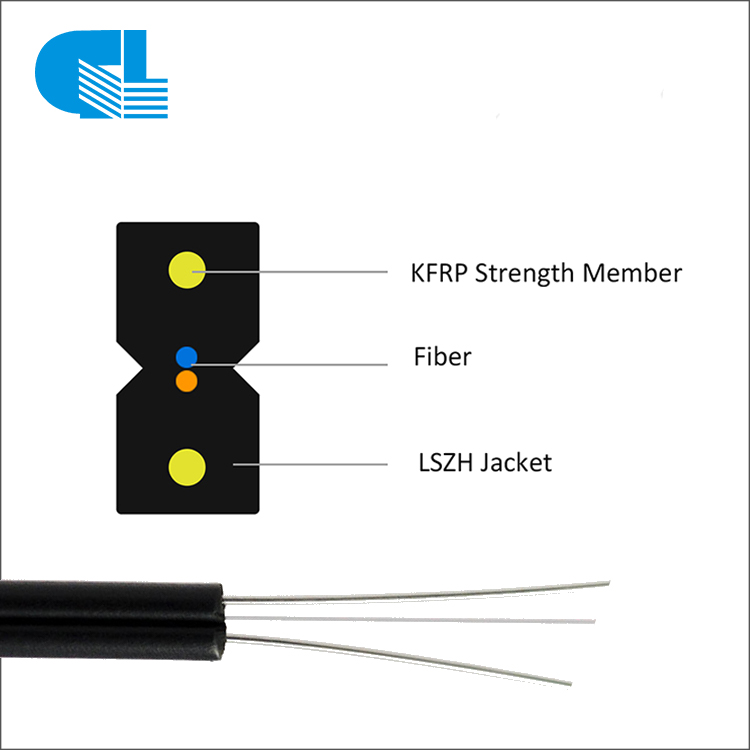 Manufacturing Companies for Overhead Ground Wire - 1-12 Core Indoor FTTH Drop Cable FRP KFRP Steel Wire – GL Technology