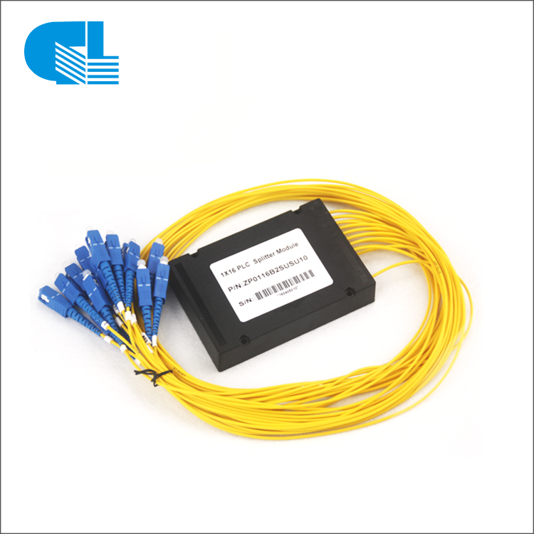 1xN 2xN PLC Fiber Optic Splitter in ABS Box