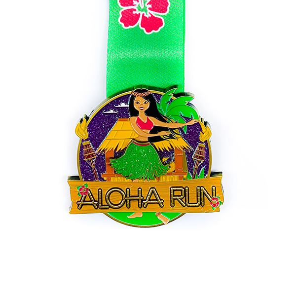 Best-Selling Pet Tag - Custom ALOHA RUN mermaid and sea turtle Medal – Global Art Gifts detail pictures