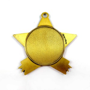 Antique stock blank star shaped medal