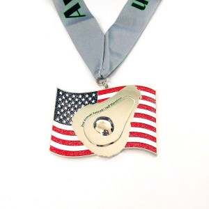 Rapid Delivery for Custom Dog Tags - Bespoke America Flag Avocado Glitter Medal – Global Art Gifts