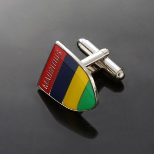 Popular simple and classic design Cufflinks with color printed
