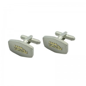 Bi-Plated  Fashionable Cufflinks with 3D Emboss
