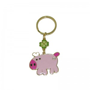 Renewable Design for personalised key ring epoxy double printing metal ring key chain