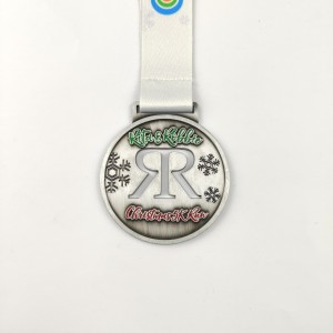 Direct Manufacturer Wholesale Free Neck Ribbon Die Casting Christmas Medal