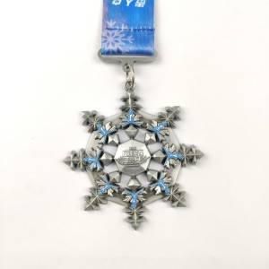 Factory Wholesale Zinc Alloy Custom Winter Medals Manufacturer OEM ODM Christmas Themed Medals
