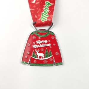 Manufacturer OEM ODM Free Design Custom Themed Ugly Christmas Sweater Medal