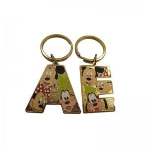 Disney Zinc alloy Letter Keychain for Promotion gifts