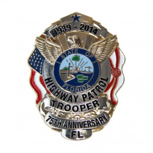 100% Original Factory Souvenir Custom Made Soft Enamel Police Badge