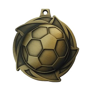 China Supplier Rated Football Tournament Championship Awards Custom Medals Enamel Sports Custom Made Soccer Football Game Medals