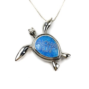 Manufacturing Companies for Race Ribbons And Medals - Custom 3D turtle with Blue Glitter necklace medal – Global Art Gifts