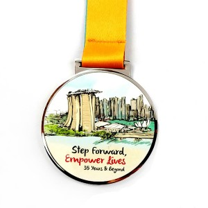 New Fashion Design color printed medal