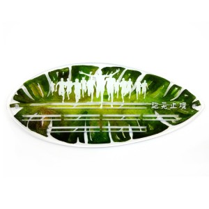OEM Supply Creative Bookmarks - Custom Acrylic Green Leaf Medal Hanger – Global Art Gifts
