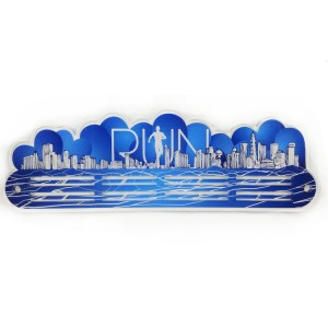 Custom Acrylic Run Across the City Medal Hanger
