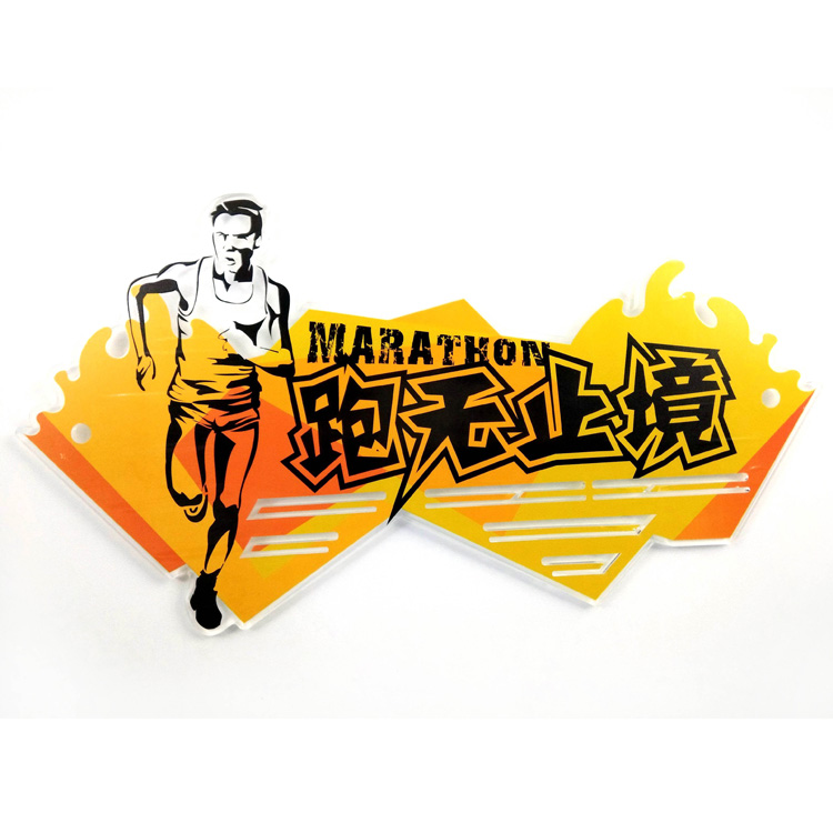 China Cheap price Fashion Keychain - Custom Acrylic Running Man Medal Hanger – Global Art Gifts