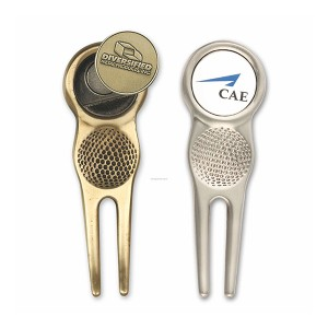 New Delivery for Champagne Bottle Stopper - Detachable metal zinc alloy golf divot tool with factory price – Global Art Gifts