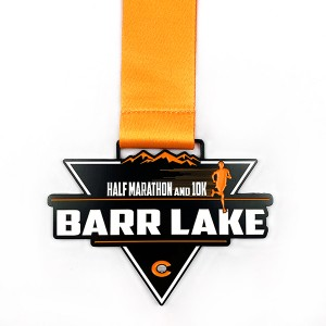Custom High quality half marathon black finished medal