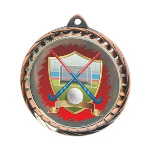 Custom Plating Anti-gold Hockey medal with 3D logo