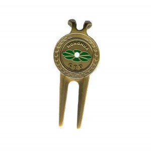 Free sample for Cheap Award Medals - High quality anti-gold plated metal zinc alloy golf divot tool with logo – Global Art Gifts