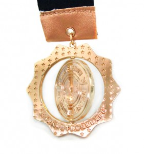 Custom Plating Bright Bronze Spinning medal