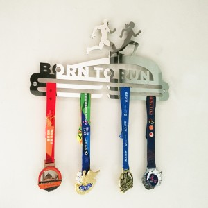 Custom Bron to Run Stainless Steel Medal Hanger