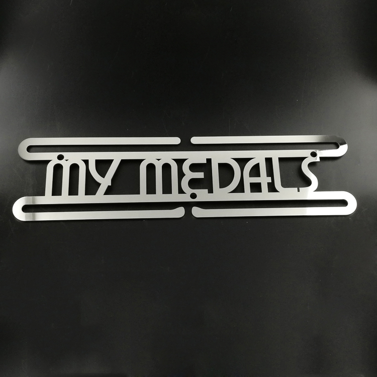 Factory supplied 3d Zinc Alloy Metal - Custom Stainless Steel Runner My Medal Hanger – Global Art Gifts