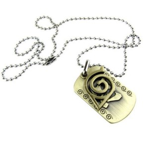 Placage sur mesure anti-or 3D Naruto Cartoon dog tag