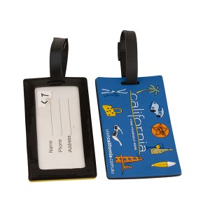 Hot selling PVC print square luggage tag