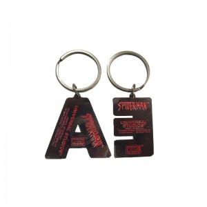 Various design-soft enamel colorful Letter Keychain