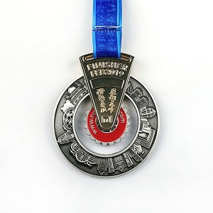 Top Suppliers Custom Made Metal Sport Medal Shiny Silver Blank Insert Medal