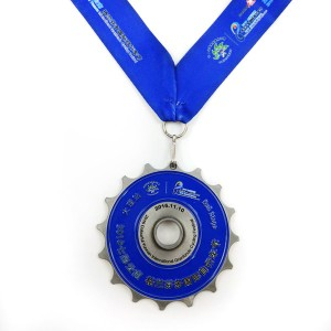 Personlized Products Custom Antiqu Silver Moutain Cycling Bike Bicycle Racing Sports Award Medal