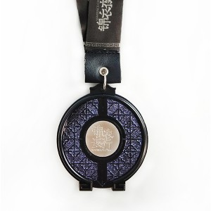 OEM China Basketball Souvenir - Free Design Black finished medal with Glitter and little iron – Global Art Gifts