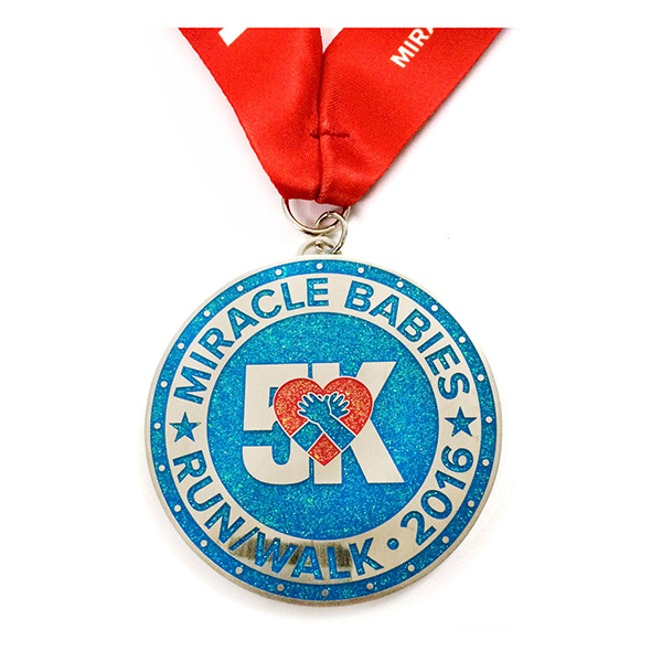 Cheapest Factory Promotional Running Medal - Creative tree shaped  medal with purple glitter and soft enamel – Global Art Gifts detail pictures