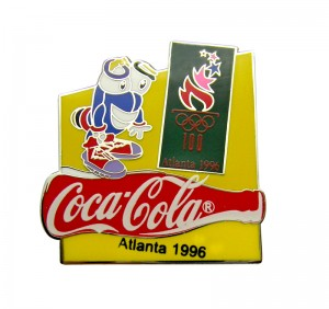 CoCaCoLa Hard Enamel Metal Pin for promotion
