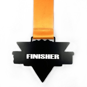 Factory Cheap Wholesale Cheap Custom Design Your Own Blank Zinc Alloy 3D Gold Metal Award Marathon Running Sport Medal Ribbon