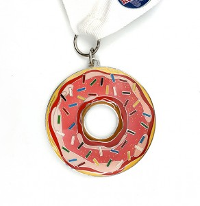 High quality professional Glitter doughnut Medal