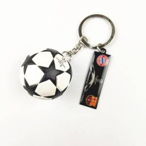 Wholesale Souvenir World Cup Football Keychain Soccer Club Logo Keyring