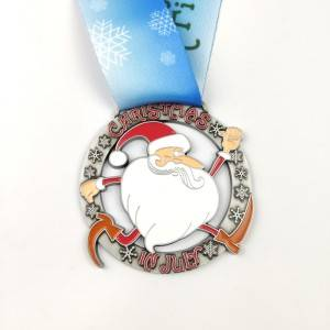 Rapid Delivery for Sport Medal Neck Ribbon - China Factory wholesale Custom Holiday medal Zinc Alloy Christmas medals – Global Art Gifts