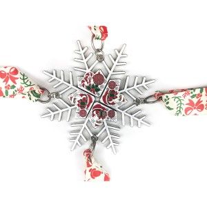 Multi-piece four stage snowflake shaped Christmas Santa medal