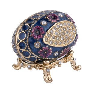 OEM Crown Shaped color metal jewelry box zelalî bi krîstal