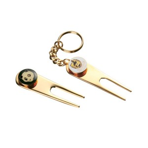 OEM Manufacturer Blank Golf Divot Tool Keychain
