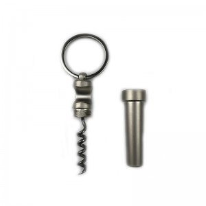 Zinc Alloy Keychain Wine Bottle Opener