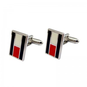 Simple Style Hard enamel Cufflinks made of Brass