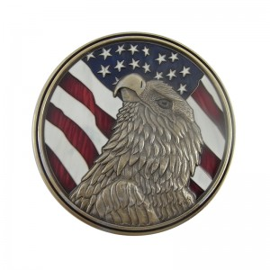Personalized 3D Zinc Alloy Soft enamel memory coin